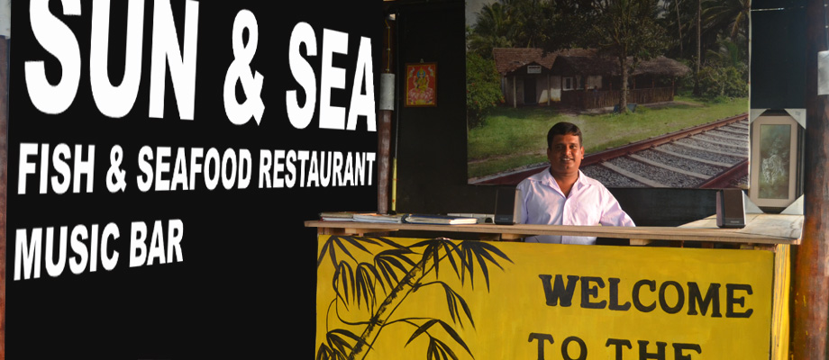 Sun & Sea, rooms at the beach, excellent fish and seafood restaurant, Bentota, Sri Lanka
